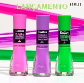 Kit Esmaltes Coleção Dailus O BAILE CONTINUA! com 3 cores