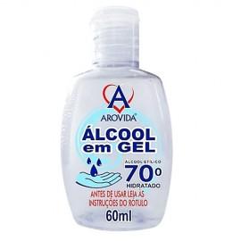 Alcool em Gel 70 Hidratado Arovida 60 ml