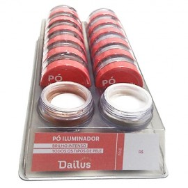 Display Pó Iluminador Dailus VEGANO  com 12 unidades