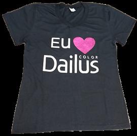 Camiseta Baby Look Dailus Color - Tamanho G